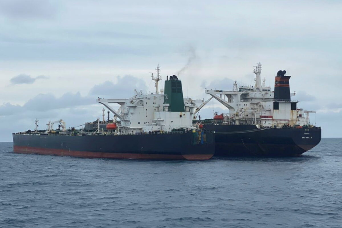 Panamanian-flagged MT Freya and the Iranian-flagged MT Horse vessels