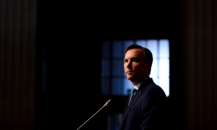 Bill Morneau holds a press conference in Ottawa on July 8, 2020. (Sean Kilpatrick/The Canadian Press)