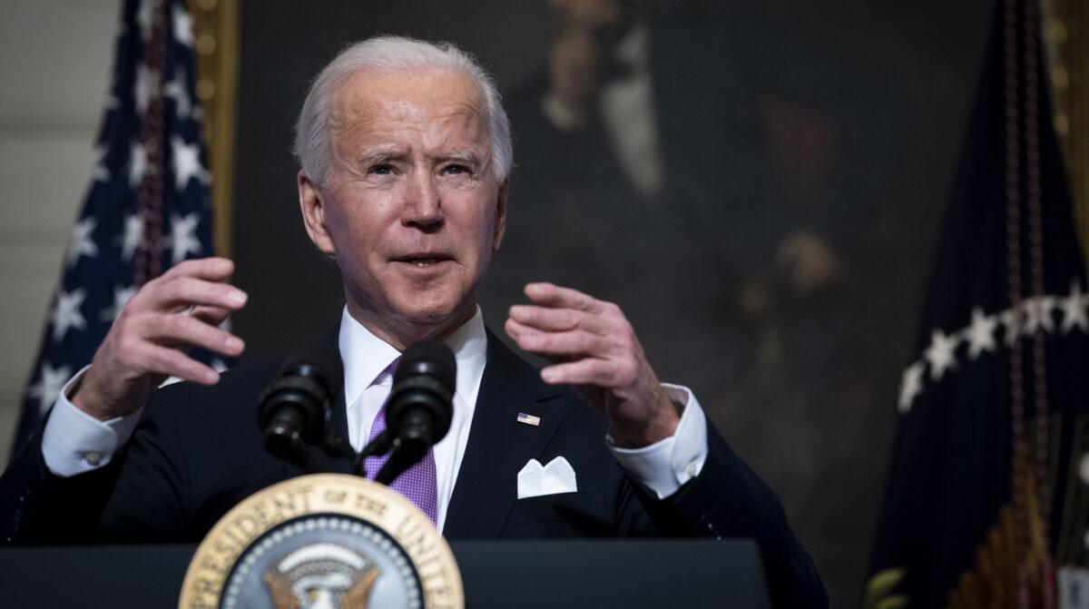 U.S. President Joe Biden speaks