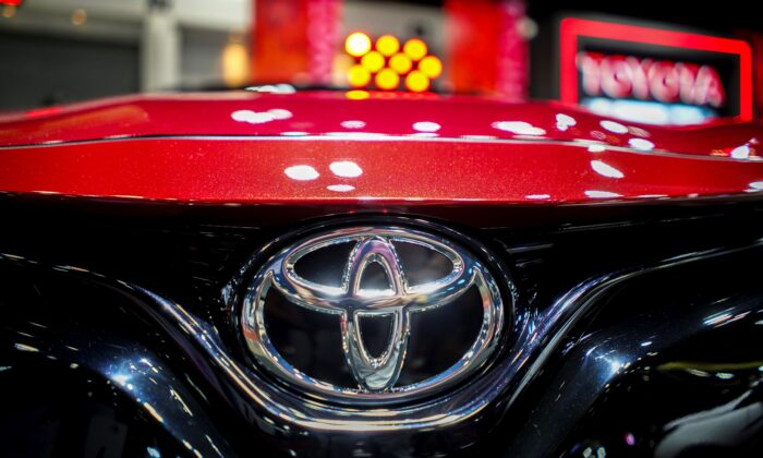 A logo of Toyota is pictured at Bangkok Auto Salon 2019 in Bangkok, Thailand, on July 4, 2019. (Athit Perawongmetha/File/Reuters)