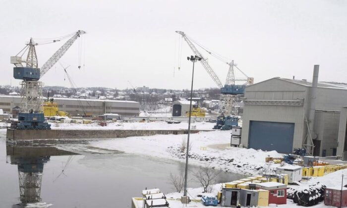 An overall view of the Davie shipyard is shown inLevis, Que., on Dec. 14, 2018. (Jacques Boissinot/The Canadian Press)