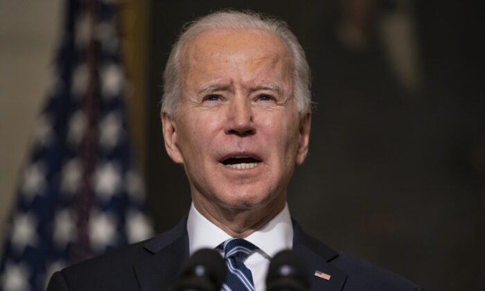 President Joe Biden delivers remarks on climate change and green jobs, at the White House, on Jan. 27, 2021. (AP Photo/Evan Vucci)