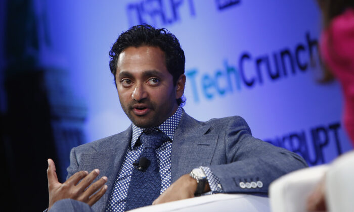 Former Facebook executive Chamath Palihapitiya speaks during a conference in New York City on April 29, 2013. (Brian Ach/Getty Images for TechCrunch)