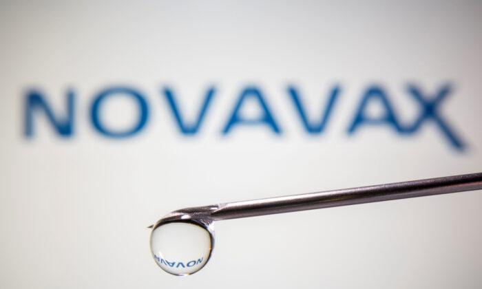 A Novavax logo in this illustration taken Nov. 9, 2020. (Dado Ruvic/Illustration/Reuters)