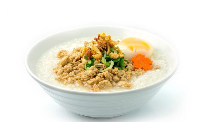Congee, a savory rice porridge, is a nourishing dish perfect for the season. (VimilkVimin/Shutterstock)