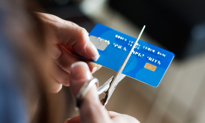 Step one: Stop using the credit cards, cold turkey.  (Josep Suria/Shutterstock)