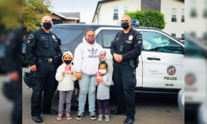 Family Has All Their New Clothes Stolen After Thieves Break Into Car, so LAPD Officers Step In to Help