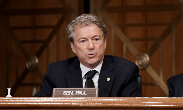 Sen. Rand Paul (R-Ky.) on Capitol Hill in Washington on Dec. 16, 2020. (Greg Nash-Pool/Getty Images)