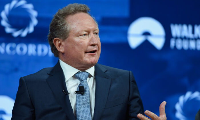 Andrew Forrest, Chairman, Minderoo Foundation speaks at The 2017 Concordia Annual Summit at Grand Hyatt New York on September 19, 2017 in New York City.  (Riccardo Savi/Getty Images for Concordia Summit)