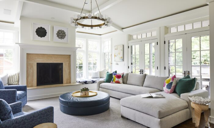 French windows line the family room, letting in an abundance of sunshine and warmth. (Laurey Glenn)