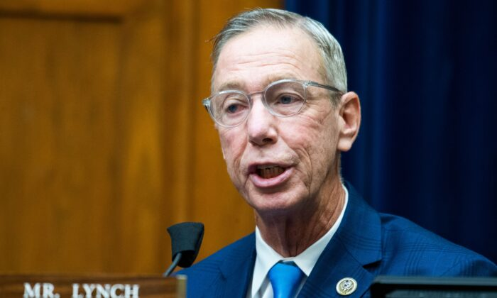 Rep. Stephen Lynch (D-Mass.) speaks during a hearing in Washington on Aug. 24, 2020. (Tom Williams/Pool/AFP via Getty Images)