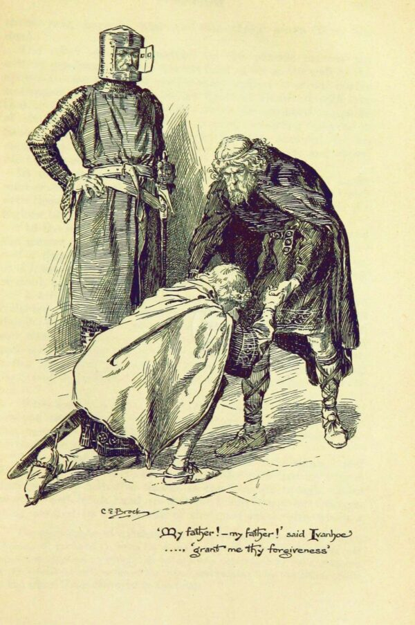 Illustration_by_C_E_Brock_for_Ivanhoe-Ivanhoe with Cedric