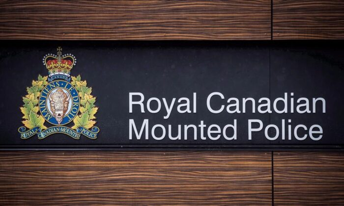 File: The RCMP logo is seen outside Royal Canadian Mounted Police Headquarters. (Darryl Dyck/The Canadian Press)