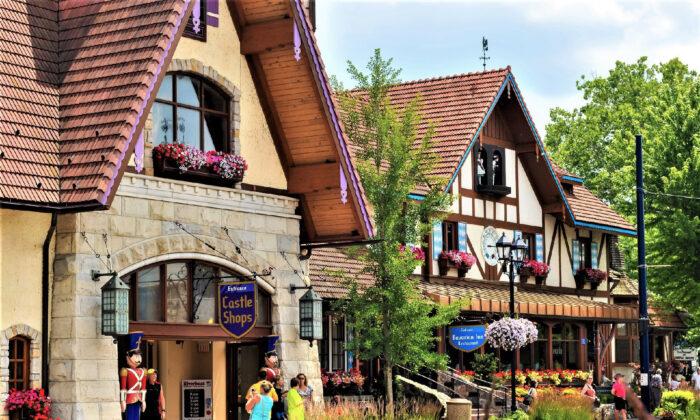 Travelers enjoy visiting the Bavarian Inn in Frankenmuth, Mich. (Courtesy of Kenneth Sponsler/Dreamstime)
