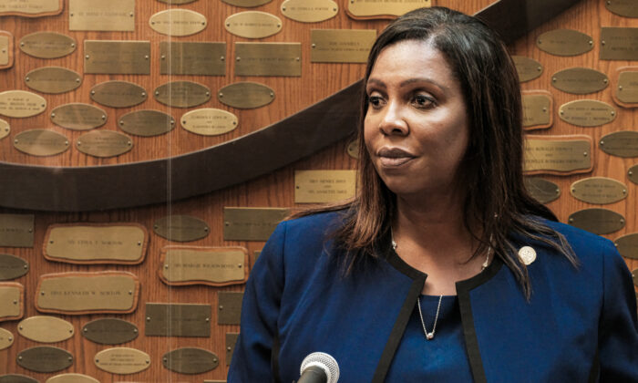 New York State Attorney General Letitia James speaks at a news conference in Rochester, N.Y., on Sept. 20, 2020. (Joshua Rashaad McFadden/Getty Images)