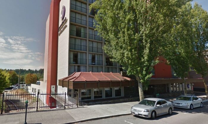The Red Lion Hotel in Olympia, Wash., is seen in a file photograph. (Google Maps)