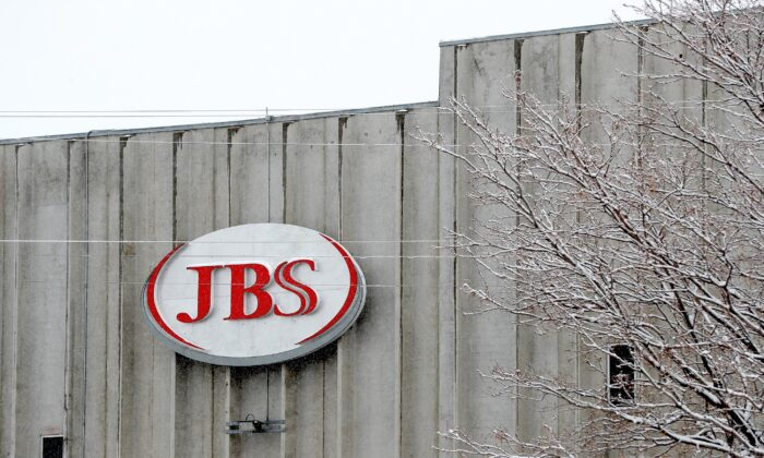 The Greeley JBS meat packing plant sits idle in Greeley, Colo., as the company tested employees for COVID-19, on April 16, 2020. (Matthew Stockman/Getty Images)