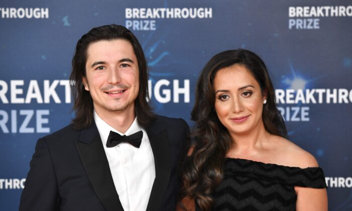 Vlad Tenev and Celina Tenev attend the 2020 Breakthrough Prize Red Carpet at NASA Ames Research Center in Mountain View, California, on Nov. 3, 2019. (Ian Tuttle/Getty Images  for Breakthrough Prize )