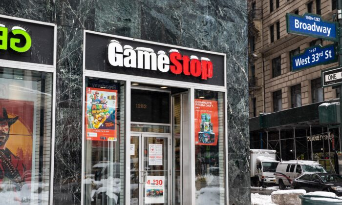 A GameStop store in New York on Feb. 2, 2021. (Chung I Ho/The Epoch Times)
