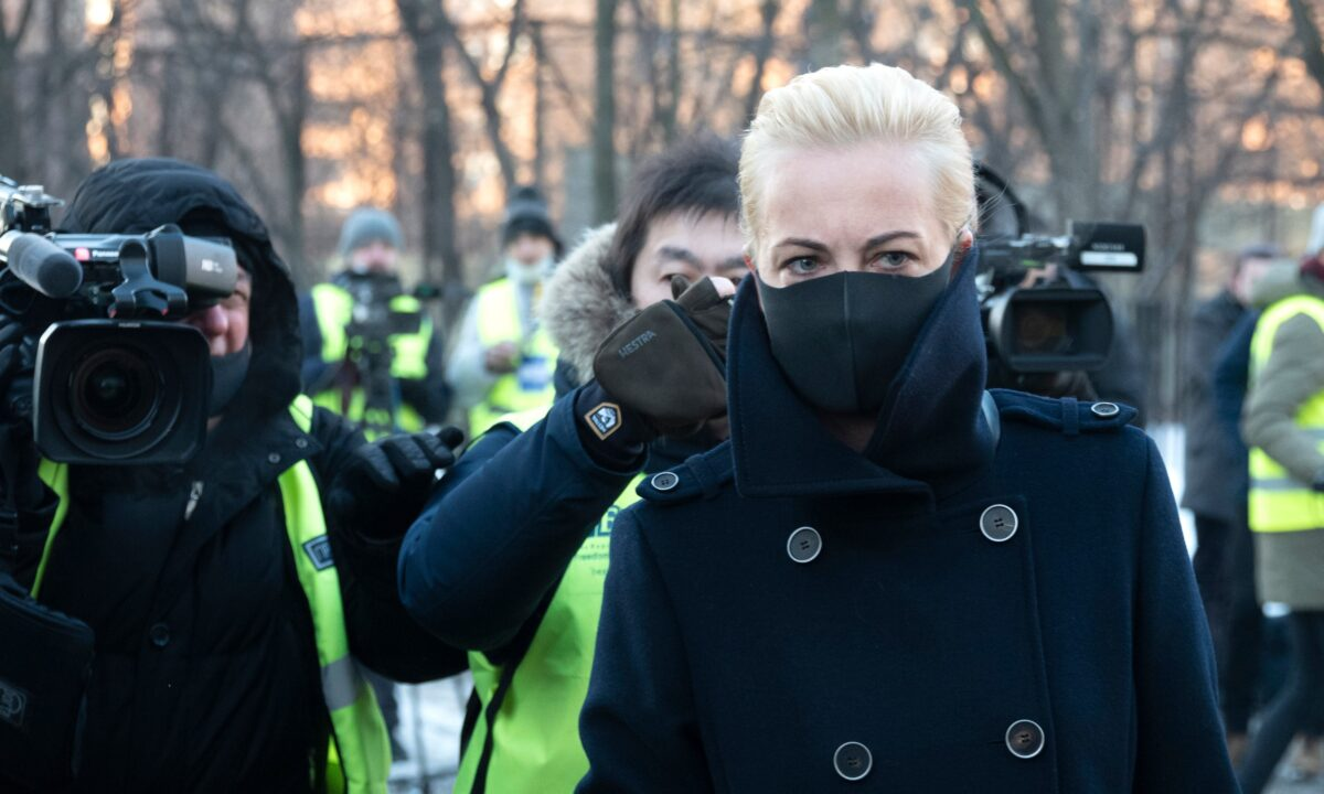 Wife of Russian opposition leader Alexei Navalny, Yulia