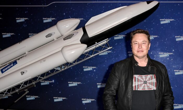 SpaceX owner and Tesla CEO Elon Musk poses on the red carpet of the Axel Springer Award 2020 in Berlin on Dec. 1, 2020. (Britta Pedersen-Pool/Getty Images)