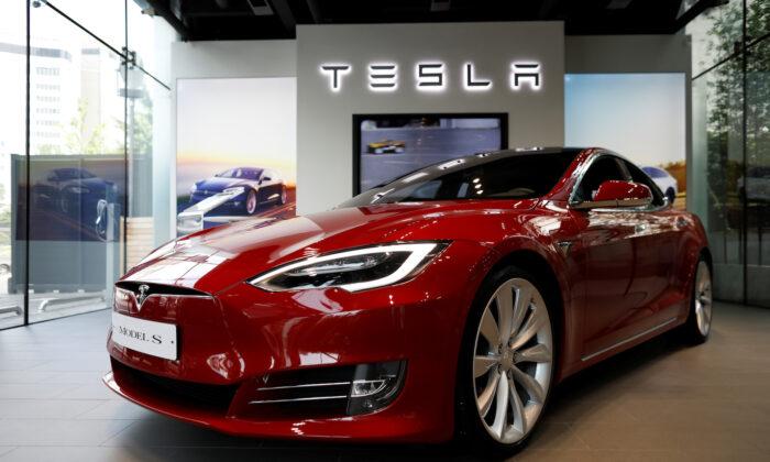 A Tesla Model S electric car is seen at its dealership in Seoul, South Korea July 6, 2017. (Kim Hong-Ji/Reuters)
