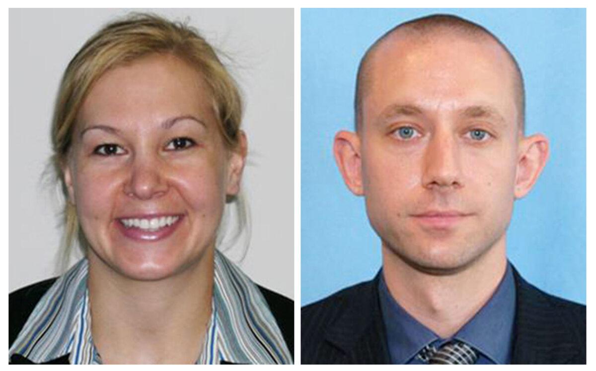 FBI photos of Laura Schwartzenberger and Daniel Alfin