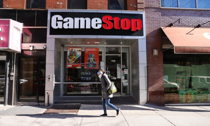 A GameStop store in Brooklyn in New York City on Jan. 28, 2021. (Spencer Platt/Getty Images)