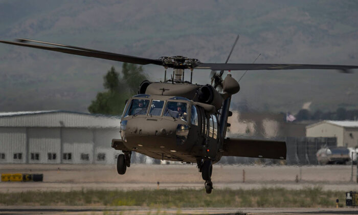 A UH-60M Black Hawk helicopter. (Courtesy of Idaho Army National Guard via Twitter)