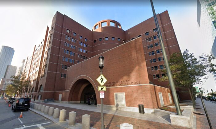 The courthouse of the U.S. Circuit Court of Appeals for the 1st Circuit in Boston on Feb. 4, 2021. (screenshot/Google Maps)
