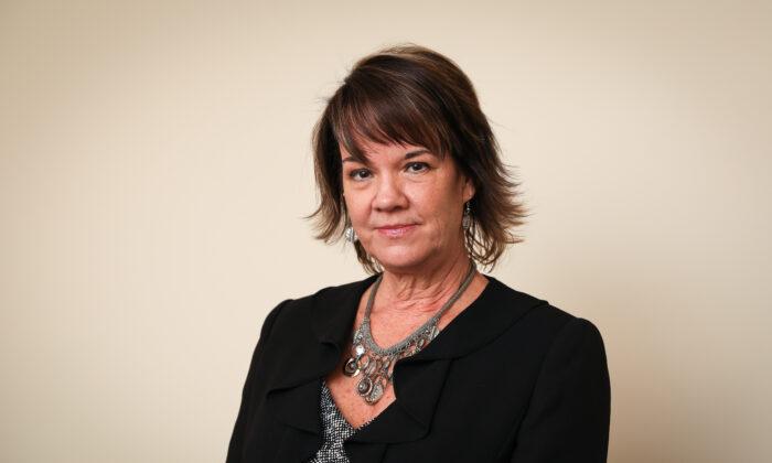 Kelly Litvak, founder of Childproof America, in Houston on Nov. 7, 2019. (Samira Bouaou/The Epoch Times)