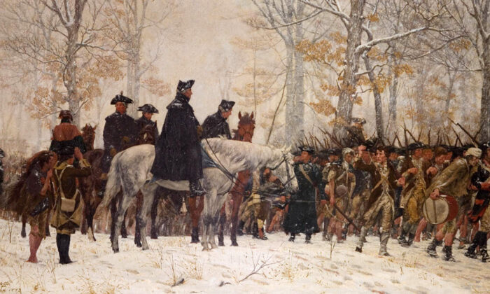 """March to Valley Forge,"" 1883, by  William B.T. Trego. Museum of the American Revolution.  (Public Domain)"