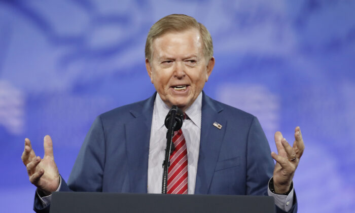 Lou Dobbs, with Fox News, speaks at the Conservative Political Action Conference in Oxon Hill, Md., on Feb. 24, 2017. (Alex Brandon/AP Photo)