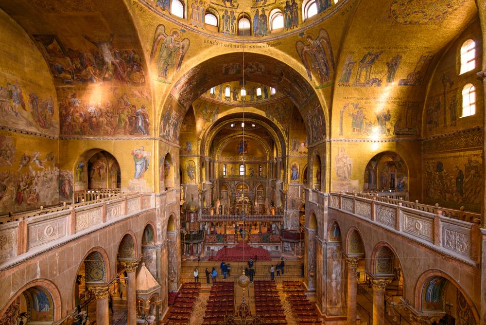 Venice,/,Italy,-,November,29,2018:,The,Mosaic,Decoration