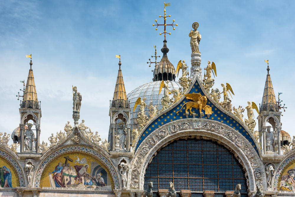 St,Mark's,Basilica,,Venice,,Italy.,Luxury,Decoration,Of,St,Mark's