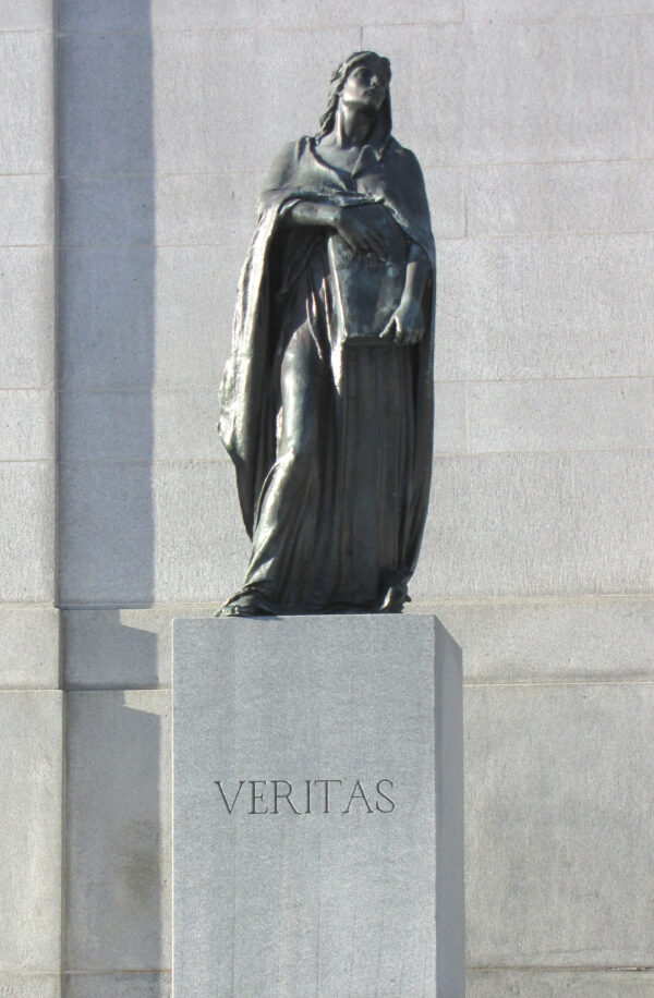 Statue of Veritas (Truth), by Walter Seymour Allward, outside Supreme Court of Canada, Ottawa, Ontario, Canada