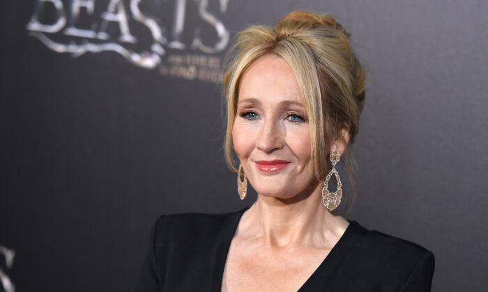 """Author J.K. Rowling attends the """"Fantastic Beasts and Where to Find Them"""" World Premiere at Alice Tully Hall, Lincoln Center in New York on Nov. 10, 2016. (Angela Weiss/AFP via Getty Images)"""