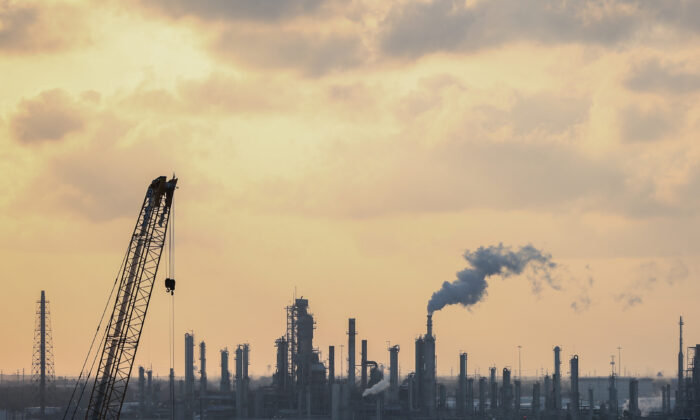 Refineries in Corpus Christi, Texas, on Nov. 8, 2018. (Charlotte Cuthbertson/The Epoch Times)