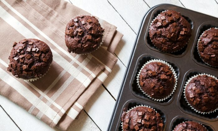 You can now bake Kwik Trip's double chocolate chip muffins—the gas station chocolate muffin of this author's dreams—at home. (NatashaPhoto/Shutterstock)