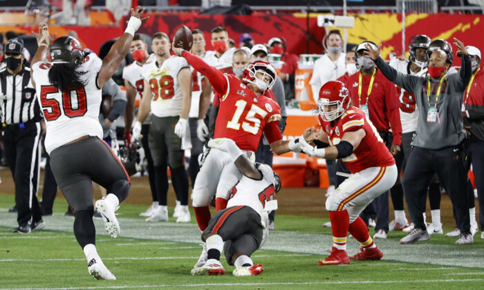Tampa Bay Buccaneers v Kansas City Chiefs at the Super Bowl LV at Raymond James Stadium in Tampa, Florida, on Feb. 7, 2021. (Eve Edelheit/Reuters)