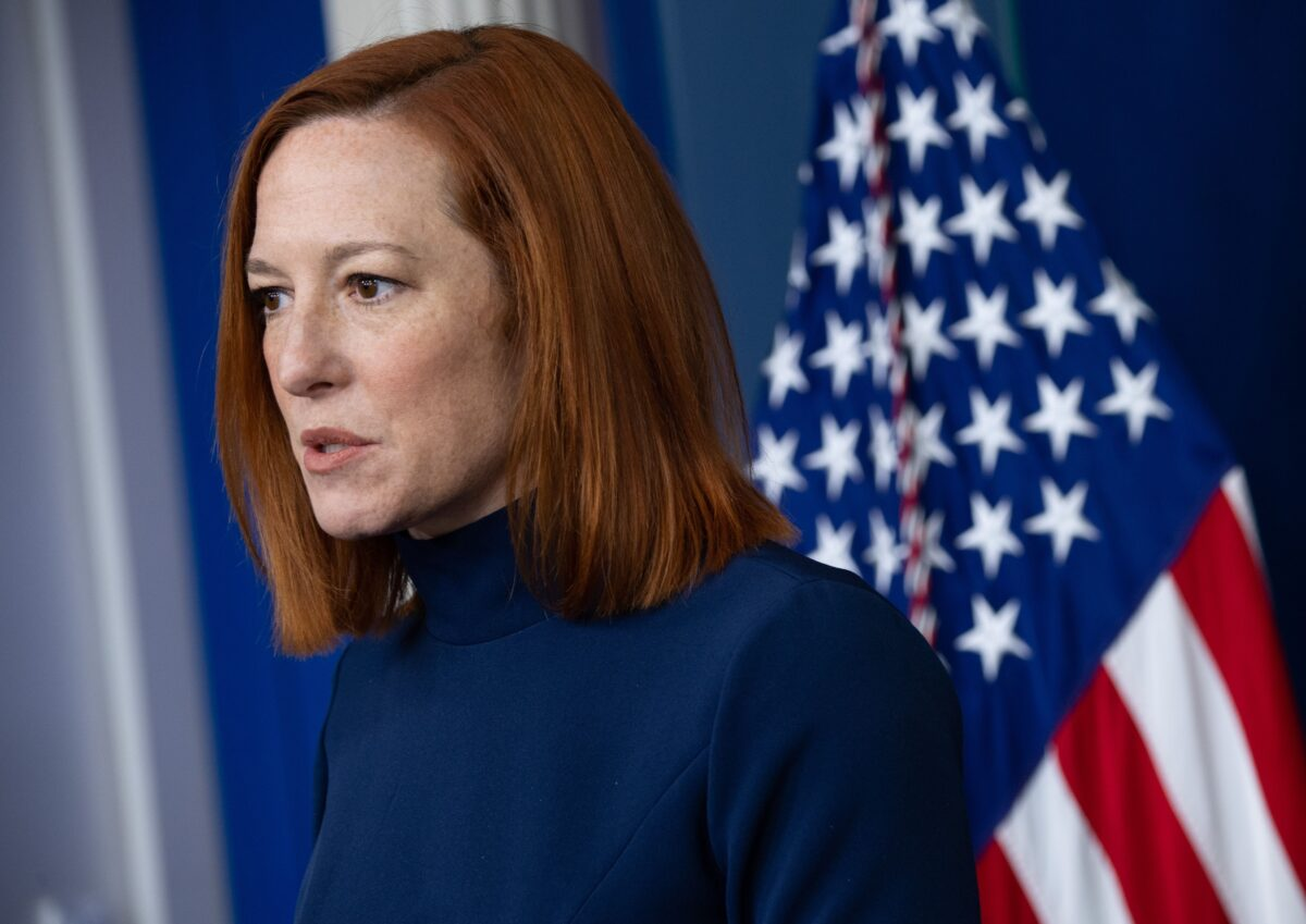 White House Press Secretary Jen Psaki speaks