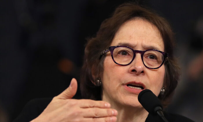 Pamela Karlan of Stanford University testifies before the House Judiciary Committee in Washington, on Dec. 4, 2019. (Chip Somodevilla/Getty Images)
