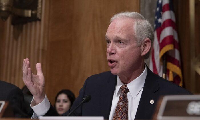 Senator Ron Johnson (R-Wis.) on Capitol Hill in Washington on April 9, 2019. (Alex Edelman/Getty Images)
