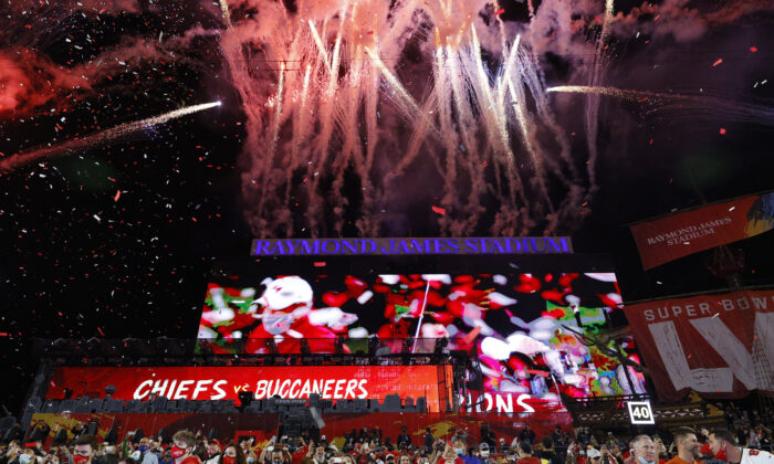 Tampa Bay Buccaneers V Kansas City Chiefs at Raymond James Stadium in Tampa, Florida on Feb. 7, 2021. (Eve Edelheit/Reuters)