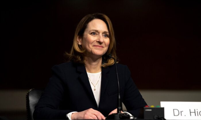 Kathleen H. Hicks appears before the Senate Armed Services Committee at a hearing to consider her nomination to be deputy secretary of defense, in Washington, on Feb. 2, 2021. (EJ Hersom/Department of Defense)