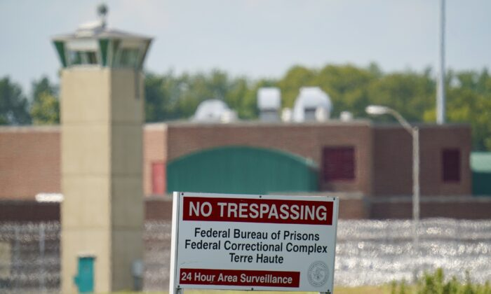 The federal prison complex in Terre Haute, Ind., is shown on Aug. 26, 2020. (Michael Conroy/AP Photo)