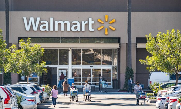 A view of a Walmart store in Irvine, Calif., on Feb. 5, 2021. (John Fredricks/The Epoch Times)