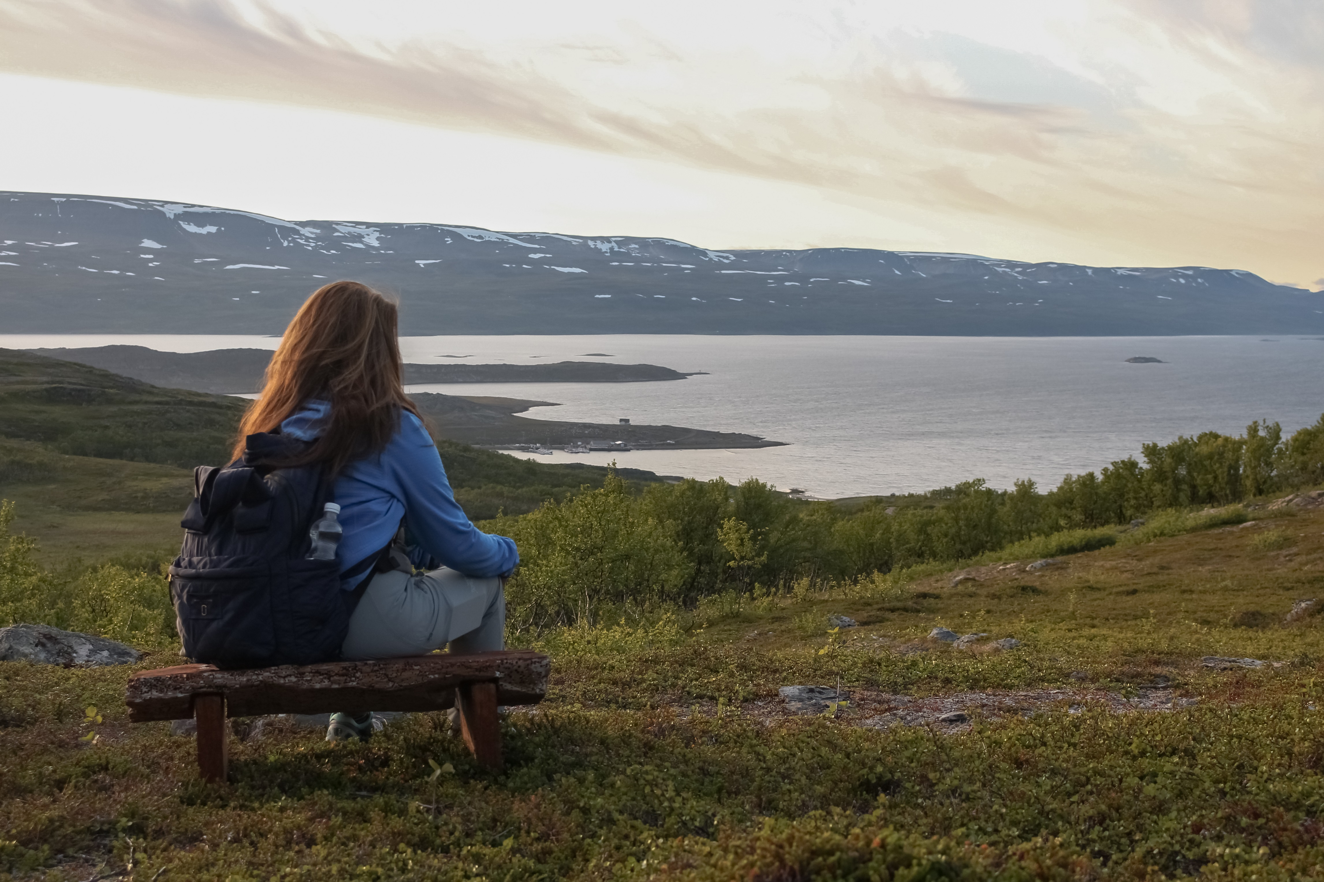 Midnight hike in Norway Tiina Salonen - Aurora Holidays