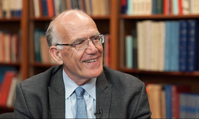Classicist and historian Victor Davis Hanson in Stanford, Calif., on April 5, 2019. (The Epoch Times)