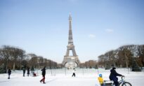 Eiffel Tower Needs Blowtorch for Ice as Snow Blankets Europe